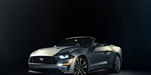 The 2018 Ford Mustang convertible wears the redesigned face found on the coupe.