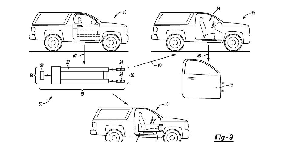 Patents hint at possible Ford Bronco removable doors, multifunction removable top