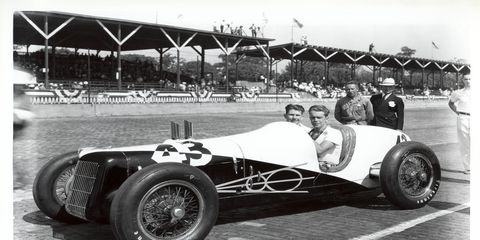 Ted Horn drove one of the 10 Fords that were entered in the 1935 Indianapolis 500. Only four of the cars qualified for the race and none of them finished.