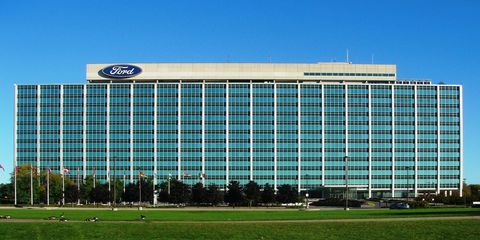 A fire at Ford world headquarters in Dearborn delayed October sales reporting.