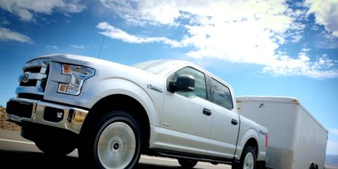 The Ford F-150 with the 2.7-liter EcoBoost can tow 8,500 pounds.
