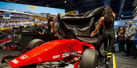 Formula Lites unveiled its first car at the SEMA Show on Wednesday.