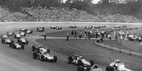 A.J. Foyt started on the pole in Milwaukee in August 1965.