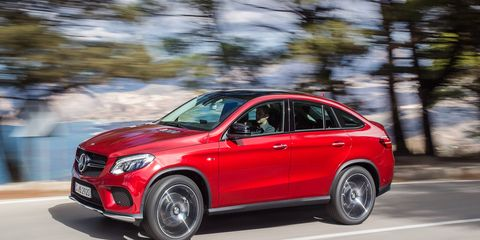 This is the 2016 Mercedes-Benz GLE 450 AMG Sport coupe.