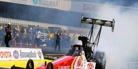 Doug Kallita took the top qualifying spot on Saturday in the Top Fuel divison.