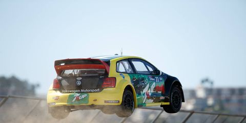 Scott Speed moved to within two points of the series leaders with his Red Bull Global Rallycross win on Saturday.