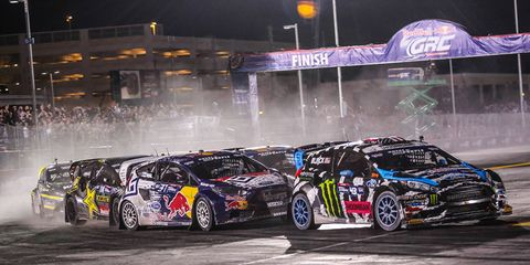 Ford won its fourth Global Rallycross Championship driver series title in a row on Wednesday in Las Vegas.