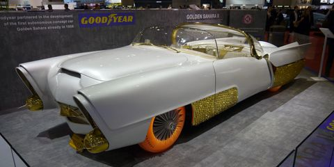 Surprise! The Golden Sahara II is back on the show circuit ... starting with an unexpected appearance at Geneva.