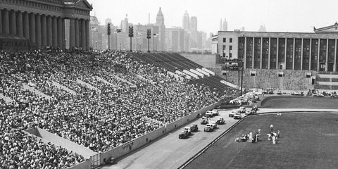 Soldier Field would attract 20,000 to 30,000 fans for a typical race card with special racing bring in as many as 80,000.
