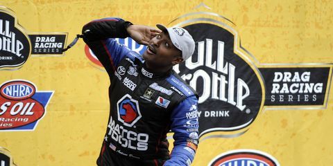 Antron Brown has the best winning percentage among drivers in major American racing series over the past five years.