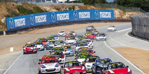 The Mazda MX-5 Cup series takes on Mazda Raceway Laguna Seca.