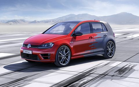 The Volkswagen Golf R Touch concept features gesture control and other cool electronics.