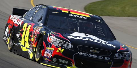 Jeff Gordon posted the seventh-quickest pole speed in NASCAR history on Friday at Michigan International Speedway.