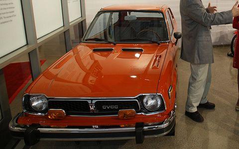 1974 Honda CVCC Civic at the Honda Heritage Center Museum