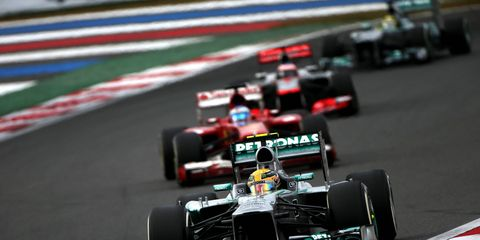 Lewis Hamilton leads a pack during the 2013 Korean Grand Prix. The race has been scrubbed from the 2015 schedule. The cut isn't a big surprise, as few ever thought the race was going to happen.