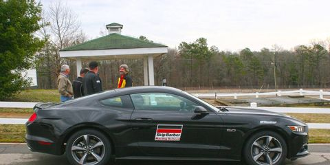 Skip Barber driving school currently uses Ford Mustangs, Porsche 911s and Mazda Miatas