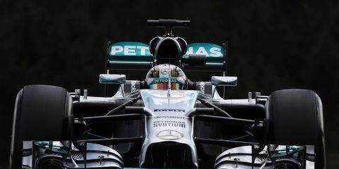 Lewis Hamilton posted the quickest FP1 practice time for the Belgian Grand Prix on Friday at Spa,