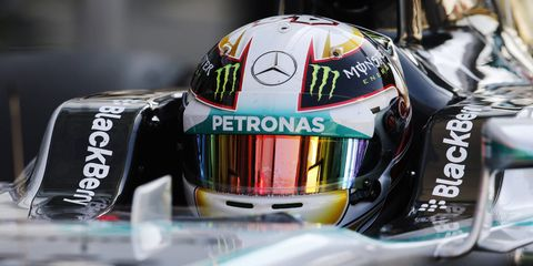 Lewis Hamilton secured his first Formula One pole since may when he nipped teammate Nico Rosberg for the top qualifying spot on Saturday at Monza.