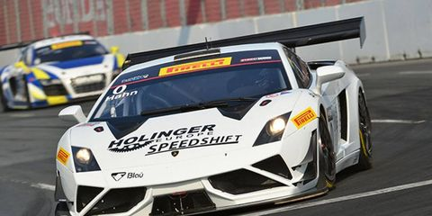 Marcelo Hahn won the GT-A class at Toronto on Saturday.