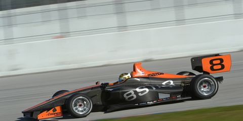 """Scott Hargrove said the new Indy Lights car was """"fantastic."""" Drivers tested the new cars this week in Jupiter, Fla."""