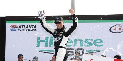 Kevin Harvick won Saturday's Xfinity race in Atlanta.