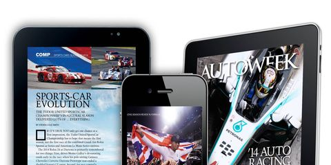 The Autoweek Racing 2014 Auto Racing Season Review app covers last season's highlights in all the major racing series and is the perfect read to get you ready for racing in 2015.
