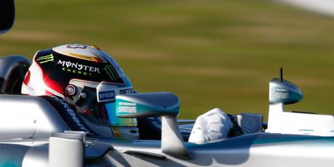 Don't expect Formula One drivers to get new liveries for their helmets in 2015. What you see at Melbourne is what you'll see all season.