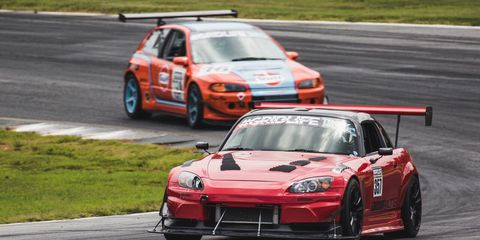 Multiple classes participate at each #GRIDLIFE event. Drivers compete for fastest lap time.