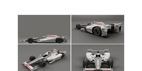 Honda released a photo of its IndyCar speedway aero kit on Thursday.