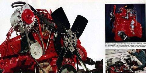 The Comanche Slant-Four engine was one bank of the 304-cubic-inch IHC V8.