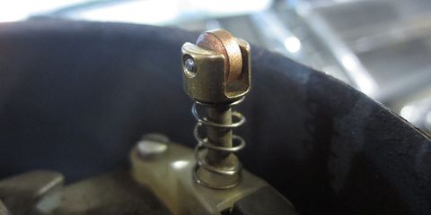 When you turn the steering wheel on a 1960s Dodge truck, this wheel maintains an electrical connection between the horn button and the car.