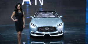 The Infiniti Q60 concept coupe was revealed on day two of the 2015 Detroit auto show