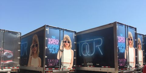 """This is Swift's fourth concert tour, in support of her fifth album, """"1989."""""""