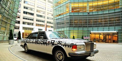 This Rolls-Royce Silver Spur was painted by mixed media artist Ben Moon.
