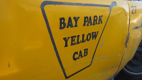There is a Bay Park neighborhood in San Diego, but the temporary-looking nature of the cab signage indicates that this was a movie car.