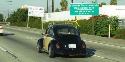 This Beetle has Washington plates, so it's far from home.