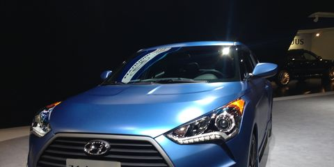 Hyundai unveiled the 2016 Veloster coupe at the Chicago Auto Show, featuring a significant design and connectivity enhancements.