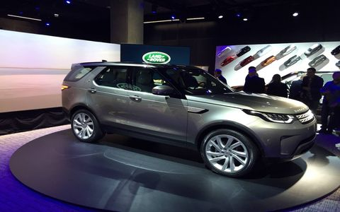 Photo taken at the Discovery's live reveal event in Paris ahead of its British launch.