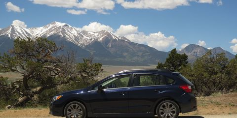 A Subaru always looks right at home in the Rocky Mountains.