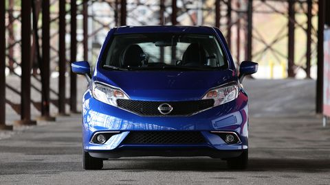 I logged quite a few miles driving the Versa Note under the grandstands at NHMS, looking for good photographic vantage points for my race coverage.