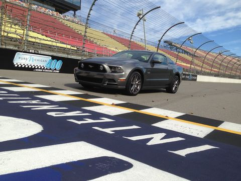 My 2014 Ford Mustang GT makes 420 hp and 390 lb-ft of torque.