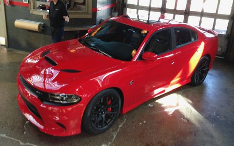 The Charger Hellcat has a claimed top speed of 204 mph.