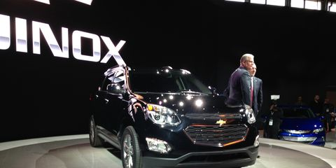 The 2016 Chevrolet Equinox gets minor styling changes front and rear.