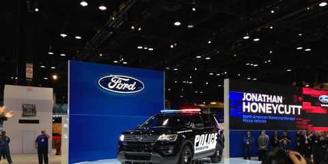 The 2016 Ford Police Interceptor Utility: Coming soon to a highway median near you.