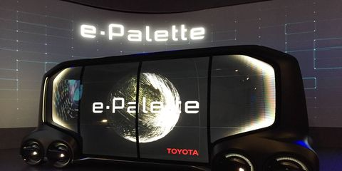 The e-Palette debuted at CES
