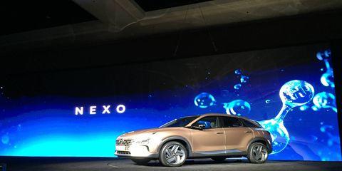Hyundai debuted its NEXO fuel cell vehicle at CES