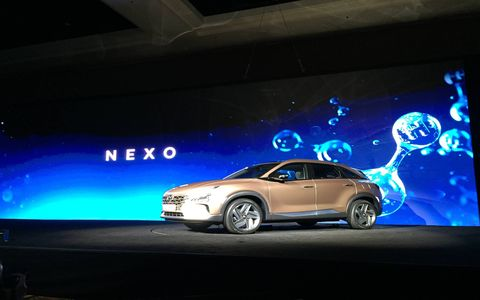 Hyundai debuted its NEXO fuel cell vehicle at CES