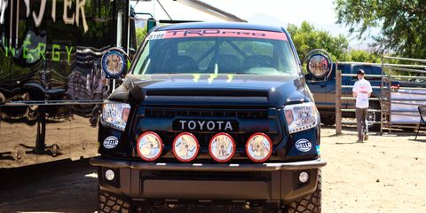 """""""Competing in the Full Size Stock class allows our team to test the Tundra TRD Pro as close to stock,"""" said a Toyota marketing manager."""