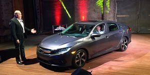 Honda unveiled the 10th-generation Civic in Detroit on Wednesday night.