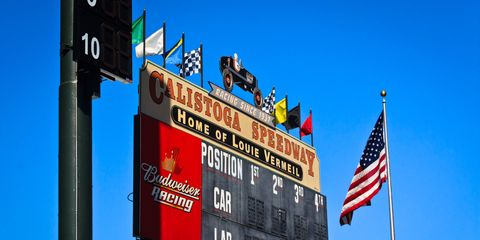 Calistoga Speedway, a former horse-racing track, held its first motor races in 1937. Louis Vermeil became intertwined with the track's fate for 40 years.
